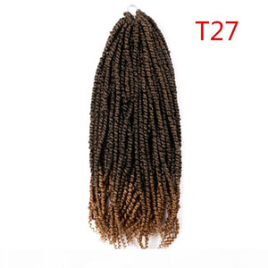 Passion Twist Hair Synthetic Kinky Curly 24 Inch Spring Twist Crochet Braid Hair 100g pc Hair Extension for Black Women