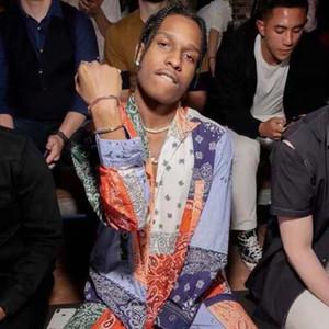 ASAP ROCKY 4mm color gradient splicing zircon men's and women's bracelet hip hop accessories