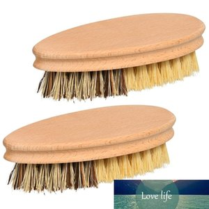 Hard and Soft Bristle Vegetable Scrub Brush , Natural Wooden Kitchen Veggie and Fruit Cleaning Scrubber Set for Washing