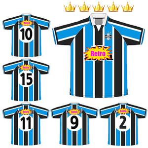 Gremio 2000 Retro Jersey di calcio 00 Ronaldinho Zinho Nene Warley Gremio Alegre Home Vintage Old Classic Jerseys Uniformi Camicia da calcio