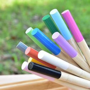 1pc bois arc-en-ciel brosse à dents arc-en-ciel Bamboo brosse à dents de bambou poignée en bois brosse à dents blanchir arc-en-ciel ewe1982