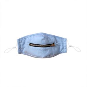 Máscara de cara con cremallera para niños Niños Chicas lavables Mascarillas Face Mascaras protectoras Reutilizable Mask Mask Mascarilla Cara Fácil de beber EWE1156