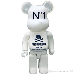 Hot 400% 28 cm Bearbrick Evade Glue Skull Bianco e Black Bear Figures Toy for Collectors Be @ rbrick Art Lavoro Modello Decorazioni Bambini regalo
