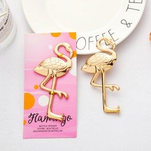 Flamingo Bottle Opener Creative Gold Color Flamingo Shape Beer Bottle Opener Wedding Gift Birthday Party Gift Ct0005