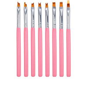 8PCS Set Nail Brush Manicure Tools Drawing Painting Point Nail Design Pen Professional Gel Brush For Art Crescent Petal Pen