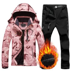 Women's Ski Suit Winter Thermal Warm Jacket Pants Set Windproof Waterproof Snowboarding Female Skiing Suits Snow Coat1