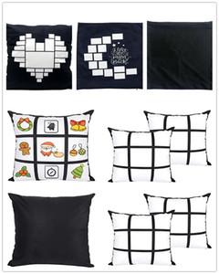 PAKY Sublimation 9 Pannello Cuscino Pannello Blank Sublimation Pillow Case Cushion Cover Throw Divano Pillowcases No Pillow Ins 40 * 40cm