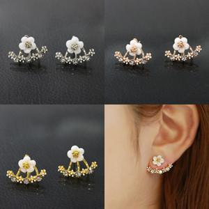 Korean women Anti allergic stud earrings Gold Silver Rose Gold daisy flower Ear nai earring For Ladies Fashion Jewelry Gift 87 K2