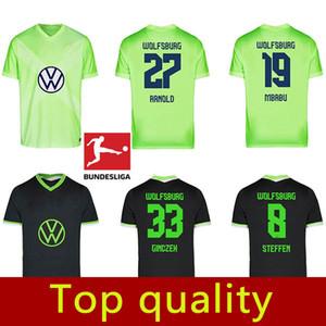 20 21 VfL Wolfsburg Accueil maillots de football 2020 2021 GINCZEK Guilavogui loin MEHMEDI Kalus MALLI STEFFEN chemises de football de qualité supérieure uniforme