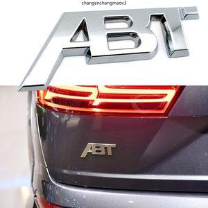 Auto ABT-Abzeichen-Logo-Aufkleber Metall für Audi Volkswagen Sitz Skoda Golf Octavia Kodiaq Leon Arteon T-ROC Fender Tür Auto Tuning