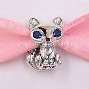 925 authentiques perles en argent sterling Pandora Fox yeux bleus Charm Charms bijoux européens Fits Pandora style Bracelets Collier 799096C01
