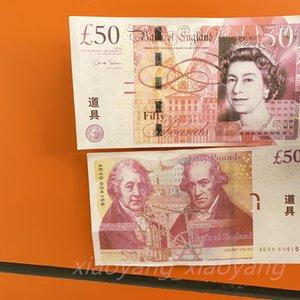 Atacado 50 UK Movie Dinheiro Quente Vendas Cópia Cédula Papel Prop Prop Money Libra para Coleção 100 pcs / Pack