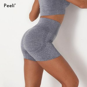 Peeli Women Seamless Shorts Women Running Gym Shorts Fitness Joggings Leggings High Waist Yoga Short Workout Tights Active Wear