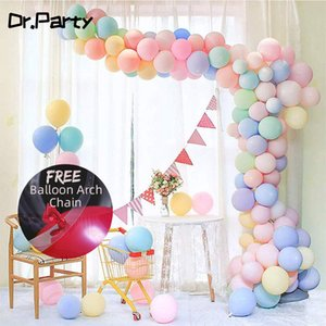Pastel Balloons Garland Fast Free Shipping 100pcs 10inch Macaron Latex Balloon Arch for Birthday Wedding Party Decoration JL0159 T200624