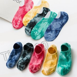 new leisur sport Skateboard cotton tie-dye mens Europe and America joint wind sweat absorption invisible ankle socks T2B5017