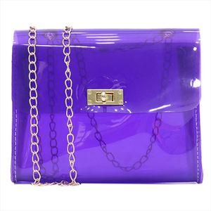 Women Clear PVC Shoulder Bags Candy Color Children Jelly Bags Transparent Purse Laser Handbags sac a main femme Crossbody