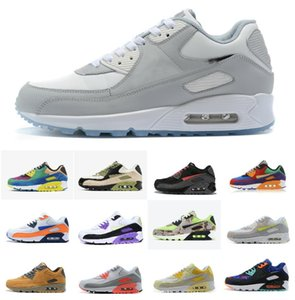 2020 New Classic 90 Running Qs Shoes Air90 Reverse Duck Camo Orange Wmns Chaussures 90s Viotech Be True Black White Red Sports Maxes
