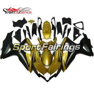 Sportbike Fairings For K8 GSXR 750 08 09 10 Suzuki GSXR 600 2008 2009 2010 Injection Bodywork With Seat Cowl Gold Black