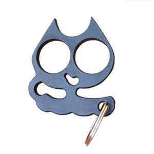 Keyring Cat Keychain Alloy For Girls Women Fashion Hand Key Holder Bag Key Charm Chain Self-defense Cute Clasp Fqcjw