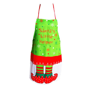 1pc de Noël Tablier Père Noël Little Helper Tablier de Noël Elf Pinafore manger Parti Table Décor Nouvel An Fournitures de Noël Tablier bbyCHq