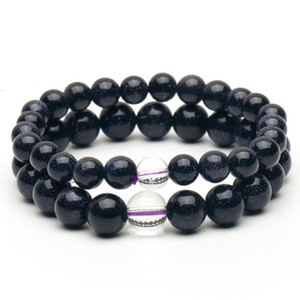 High quality Luck Natural Moonstone Blue Bead Tibetan Buddha Men's bracelet Crystal Couple Jewelry gift Drop Shipping