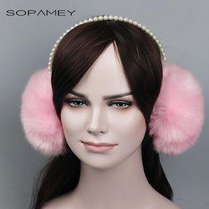 Auricolari Fashion Fashion Faux Fur Aurmuffs Scaldamani perle finte perle invernali inverno donne regali di Natale 2021