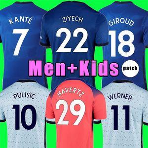 2020 2021 Chelsea WERNER PULISIC CHILWELL HAVERTZ SILVA KANTE Fußball trikot GIROUD WILLAN Fußballtrikot 19 20 21 Männer + Kinder Trikot Vierter Pokal 4th
