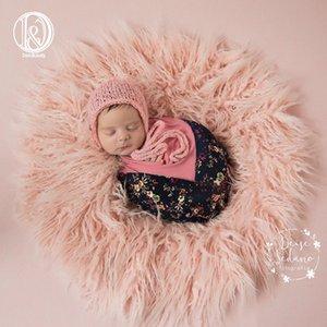 Donjudy Runde 60cm Neugeborene Baby Säugling Foto Decke Gefälschte Pelzdecke Decken Blankets Fotografie Hintergrund Baby Fotos Shooting für Studio Y201001