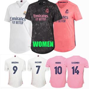 2019 2020 2021 레알 마드리드 여성 축구 유니폼 asensio Casemiro Marcelo James Modric Jovic Ramos 위험 벤제 축구 여성 셔츠 S-2XL