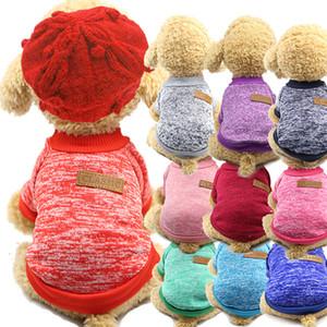 PET camiseta Mantenha o cão quente Roupa Moda Camisas Top Vest Roupas de Algodão Cachorro Cachorro Pequeno Cão Pequeno Roupa Barato Pet Fato