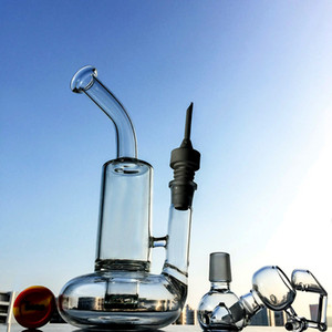 Bent Style Tornado Perc Glass Bong Lifebuoy Base Cyclone Percolator Glass Water Pipes 18mm Oil Dab Rigs Hookah With Bowl