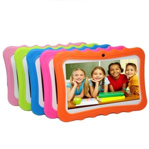 "Kids Brand Tablet PC 7"" Quad Core Children Tablet 8G Android 4.4 Christmas Gift A33 Google Player Wifi Big Speaker Protective Cover"