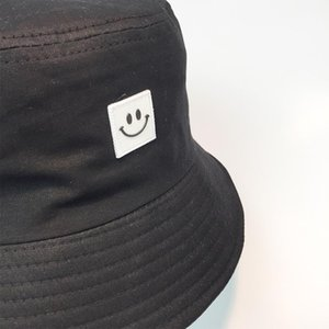 New Summer Hat Women Mens Panama Bucket Hat Smile Face Design Flat Sun Visor Fishing Fisherman Bob Hat Chapeu Femmes Hip Hop jlldTK