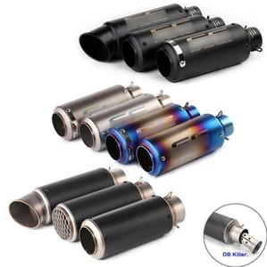 51mm 60mm Universal Motorrad Auspuff-Schalldämpfer Kohlefaser-Escape-Auspuff-DB-Killer-Schmutz-Bike-Roller für SC-Projekt BWS PCX1