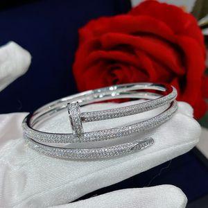 Heißer Verkauf Schraube Volle Bohrer Nägel Gold Armbänder Frauen Punk Für Beste Geschenk Luxuriöse Überlegene Qualitätsschmuck Drei Kreis Doppeldeck Armband