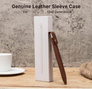 Hot Sale Leather Stylus Pen Case Handcrafted Pen Bag Storage Sleeves Gifts Capacitive Pen Pouch Office Stationery Free Shipping