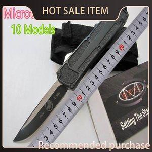 Oferta de faca! 10 V S / E estilos Scarab Microtech Melhor faca automática Especial Troodon Marfione Halo Troodon A07 Facas de Presentes SQTMV