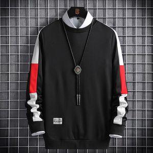 Yuxiang 2021 otoño nuevo suéter de manga larga para hombres, moda coreana, suéter de costura de ocio.