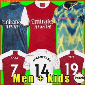Arsen futbol forması Gunners Hayranlar Oyuncu sürümü 20 21 PEPE SAKA THOMAS WILLIAN NICOLAS CEBALLOS GUENDOUZI TIERNEY 2020 futbol forması Erkekler + Çocuk kiti Üniformalar