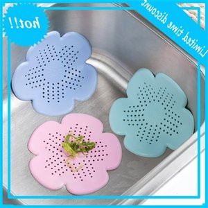 Sinks Flower Shape Sink Strainer Hair Drain Silicone Sewer Filter Kitchen Bathroom Tools