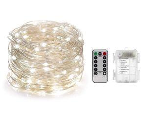 1-10M LED String Fairy Lights Pile Contrôle de la batterie Décor extérieur Décor extérieur IP65 Personnalisé Christmas LED String Lights