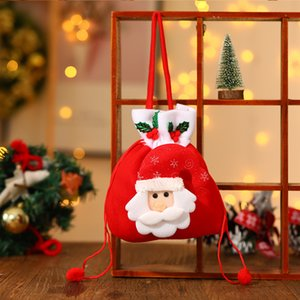 High Quality Christmas Gifts Candy Bag Portable Santa Claus Gift Bags Delicate Kids Apple Bags Christmas Home Decorations Supplies BC BH4194