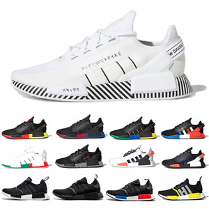 Adidas Core Black White NMD R1 V2 Mens Running Shoes Mexico City Oreo OG Classic Aqua Tones Metallic Gold Men Women Japan Sports designer Sneakers Stock X