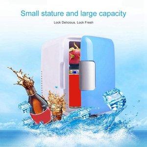 Мини холодильник, 12V 4 литра портативный мини холодильник холодильник и теплый с кордами питания переменного / постоянного тока, супер тихий морозильник в автомобиле FO1