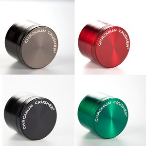 Cool Design Herb Grinders 4 Layers Tobacco Smoking Accessories 40mm 50mm 55mm 63mm Diameter Zinc Alloy Metal Grinder 6 Colors Mill Crushe