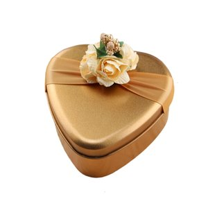UYRPKU Factory price Creative Metal Candy Boxes Tea Can Large Heart Round Square shaped Wedding Gift Box Tinplate for Baby Show 3 N