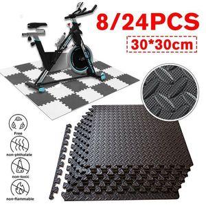30x30cm EVA espuma azulejos de enclavamiento Pisos protectores EVA Mats de espuma azulejos de gimnasio Estera de piso Garaje Taller de taller MAT1