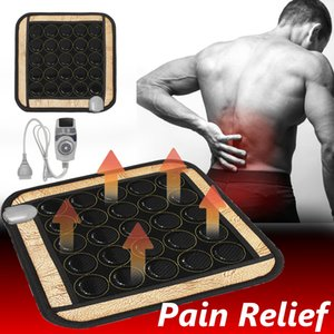 Health care jade physical therapy pad infrared heating pad remote natural heating pad jade carpet office chair mattress 45x45cm 220 V