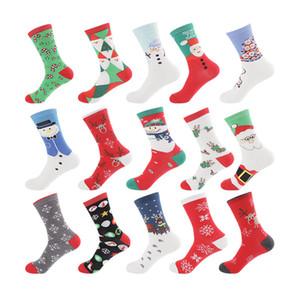 Calzino di cotone di natale calzini caldi invernali cartone animato stampa uomini e donne Compression Sport Sport Stretch Socks festa per feste