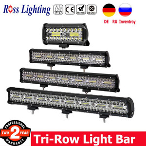 """3 Row Off Road Light Bar Combo 4"""" 7"""" 12"""" 20"""" 23""""inch 180W 240W LED Bar Work Light for Truck Boat 4x4 Driving SUV 12V"""